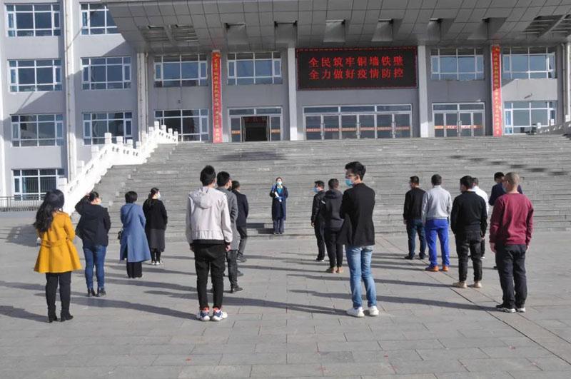 怀仁一中组织模拟开学防控疫情应急演练